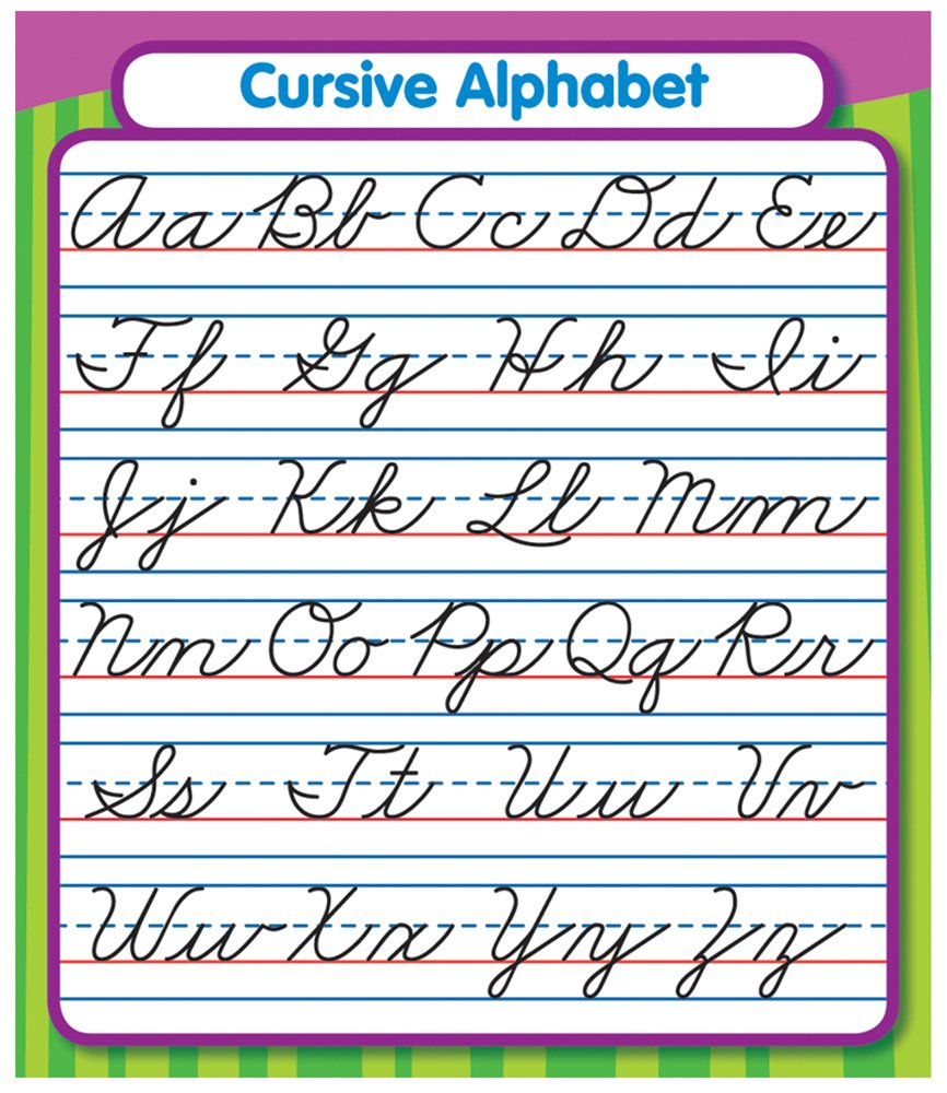 Worksheet Cursive Alphabet Chart amazon com carson dellosa cursive alphabet stickers 168072 childrens decorative office products