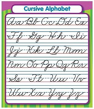 Amazon.com : Carson Dellosa Cursive Alphabet Stickers (168072 ...