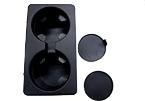 DEF Double Cup Holder Insert for Selected GMC Sierra Yukon Yukon XL 2007 2008 2009 2010 2011 2012 2013 2014 Replacement Number 19154712