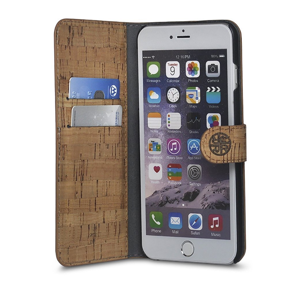 Cork Wood Wallet Case Compatible with iPhone