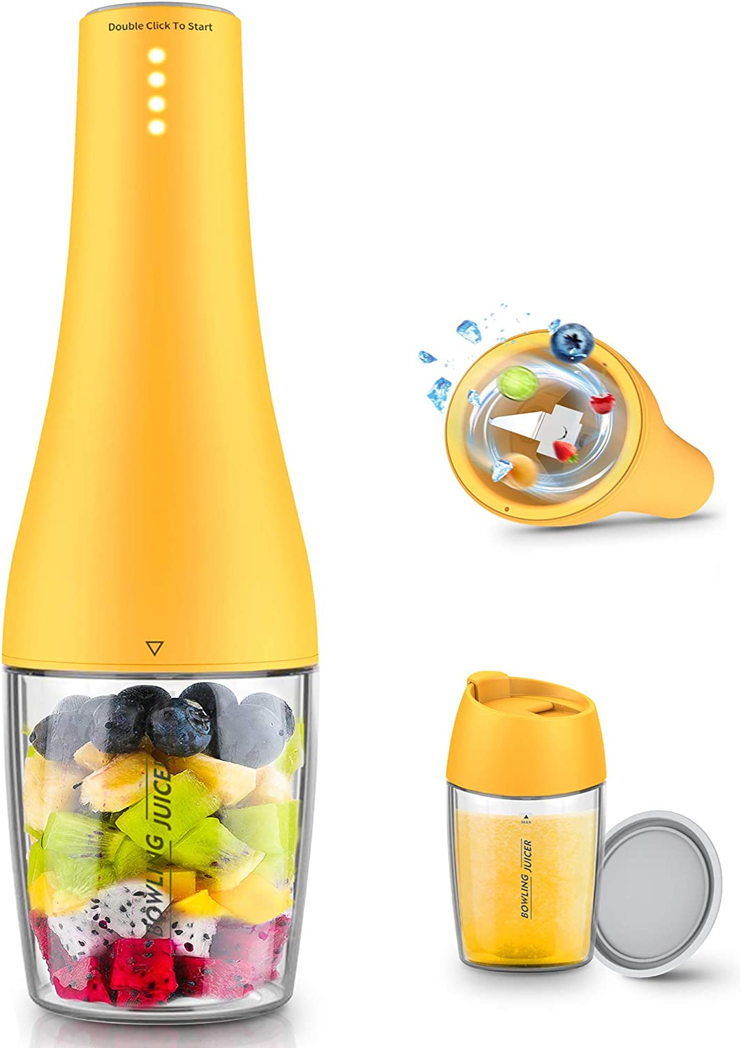 【UUYEE 16Oz Portable Blender】Personal Blender for Shakes and Smoothies Mini Bl