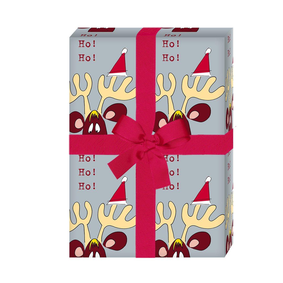 Amüsant Lustige Geschenkverpackung Sammlung Von Lustiges Weihnachtspapier/weihnachts Geschenkpapier Mit Komischem Elch: Ho