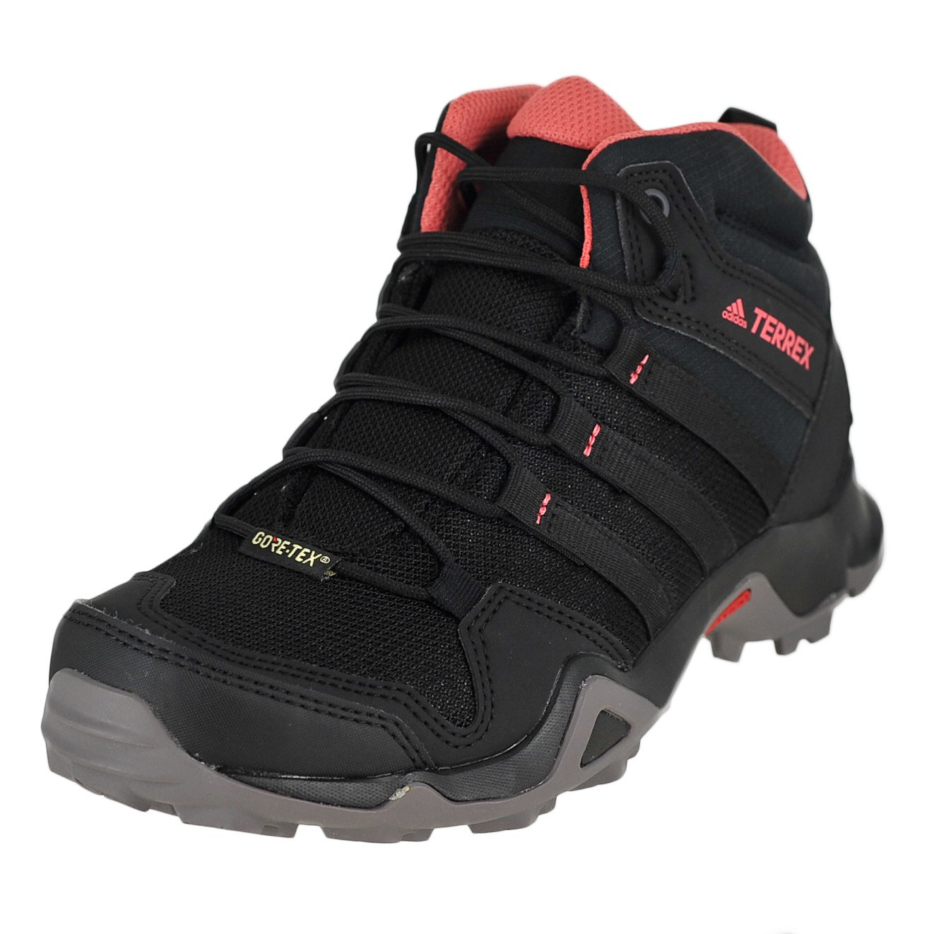 Adidas Sport Performance Women's Terrex AX2R Mid Gore-Tex Outdoor Sneakers, Black Textile, 9.5 M