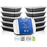 Chef's Star Reusable Food Storage Containers with Lids - 26 oz - BPA Free - Microwave Safe - Dishwasher Safe - Stackable - 10 Pack