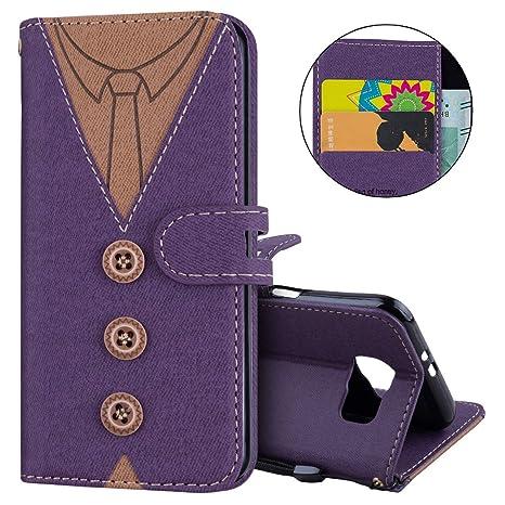 IKASEFU - Funda para Samsung Galaxy S6, diseño de corbata de ...