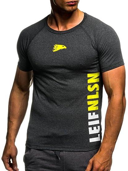 1525332c824 LEIF NELSON Gym pour des Hommes Fitness T-Shirt Chemise d entraînement  Training LN06279