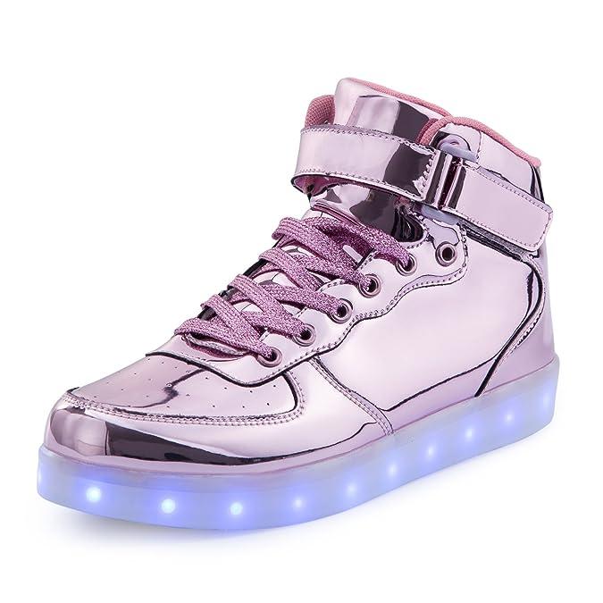 FLARUT 7 Farbe USB Aufladen LED Leuchtend Leuchtschuhe Blinkschuhe Sport Schuhe für Jungen Mädchen Kinder