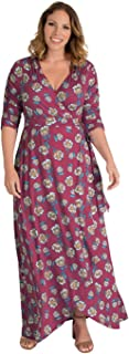 product image for Kiyonna Women's Plus Size Meadow Dream Maxi Dress