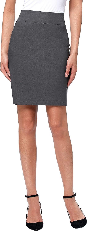Kate Kasin Womens Knee Length Pencil Skirts Slim Fit Business Skirt
