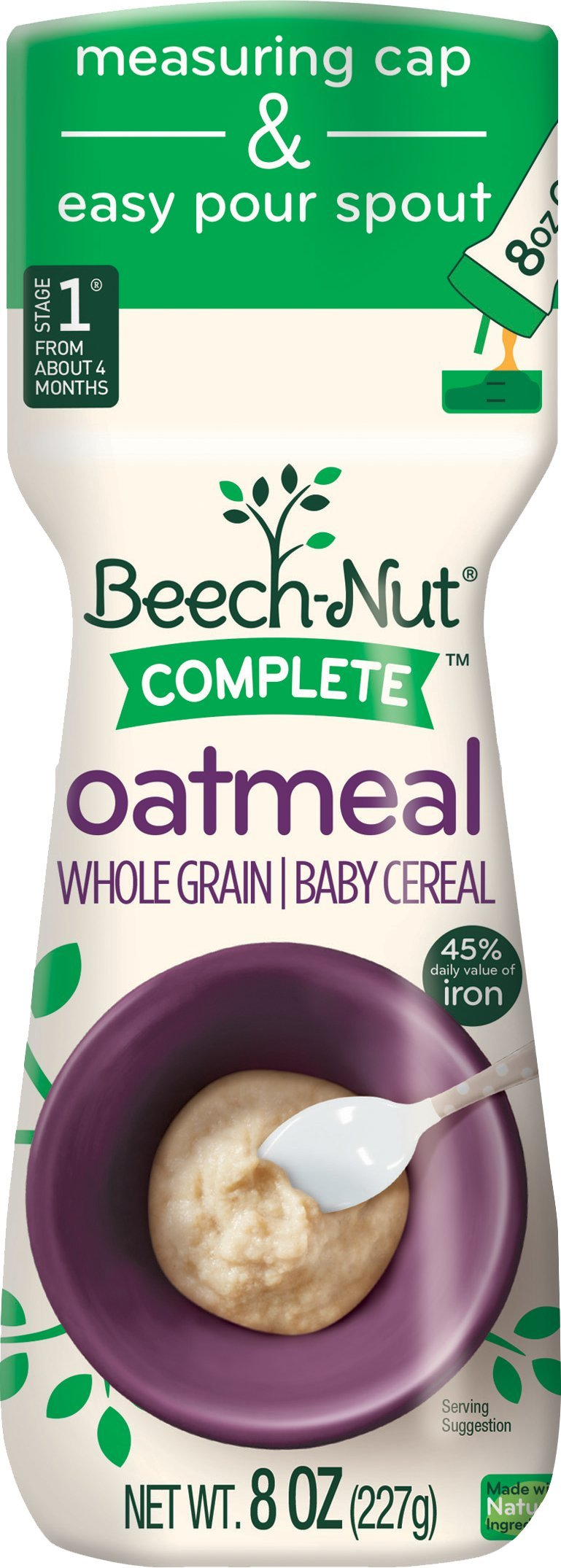 Beech-Nut Oatmeal 8 OZ Canister 3 pack
