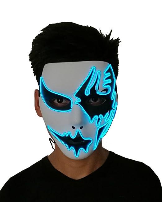 Máscara de Carnaval Para Fiesta Navidad Regalo EL Luz Enmascara Festival LED