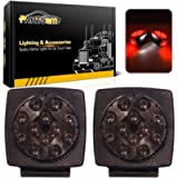 Partsam 12V Submersible Square Led Trailer Lights Smoked Red Combination Led Stop Tail Brake Turn Signal Light for…