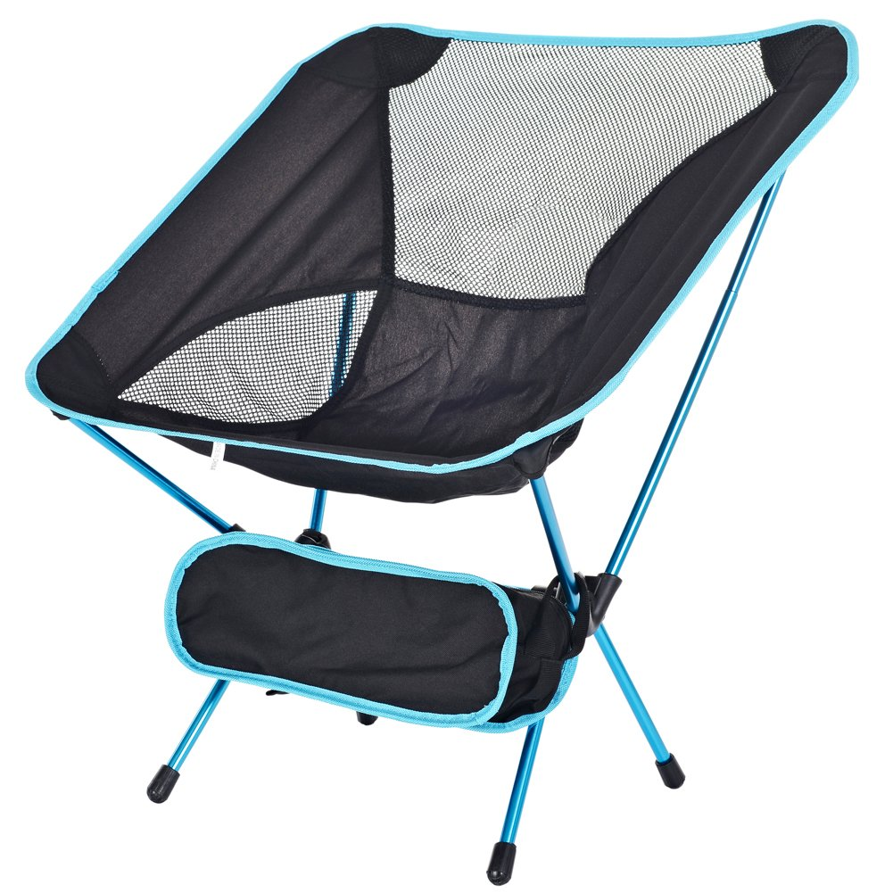 cotoxo Portable Folding Camp椅子Ultralight Backpacking Travel Chair with Carryバッグ、コンパクト& Heavy Duty forキャンプピクニックビーチ祭ハイキング釣りアウトドア活動  ブルー B077SJVB91