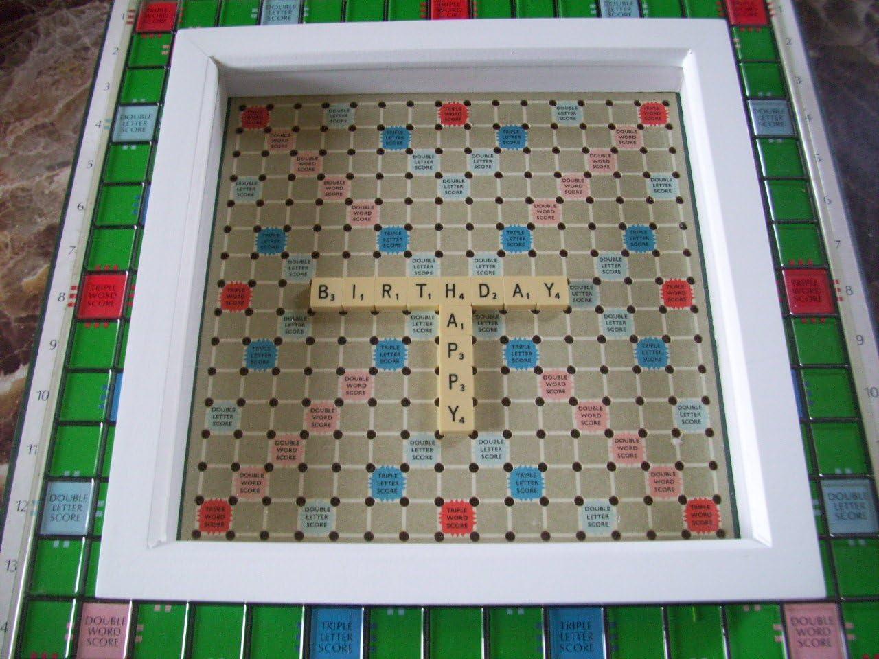 Gemas de Inglés Scrabble® imagen viaje azulejos elección de palabras de profundidad blanco marco: Amazon.es: Hogar