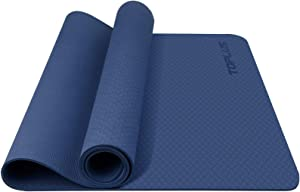 TOPLUS Yoga Mat , Fitness & Exercise Mat - Classic 4mm Thick Eco Friendly Non Slip Workout Mat with Carrying Strap for Yoga , Pilates, Gym and Floor Workouts