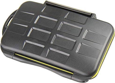 SovelyBoFan Resistente al Agua 24 Ranuras Estuche para Tarjetas de Memoria Estuche Profesional Antichoque Almacenamiento Color Aleatorio: Amazon.es: Electrónica