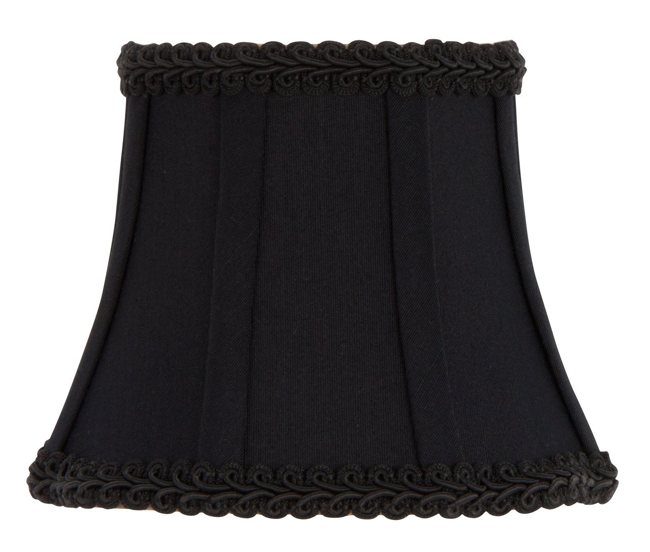 Upgradelights Black Wall Sconce Clip on Shield Lamp Shade Chandelier Half Shades