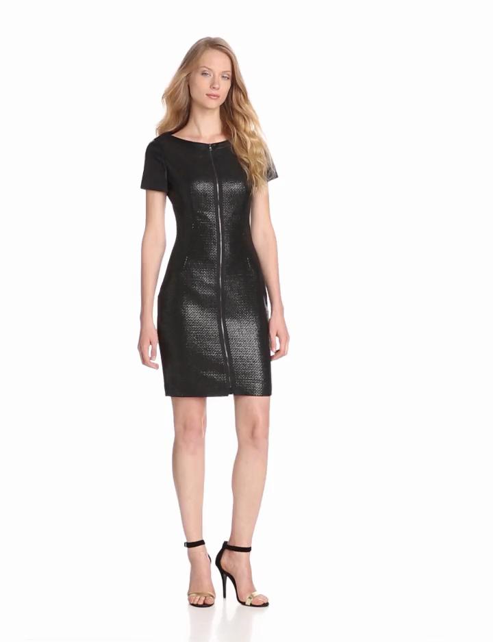 T Tahari Women's Lalita Dress, Black, 12
