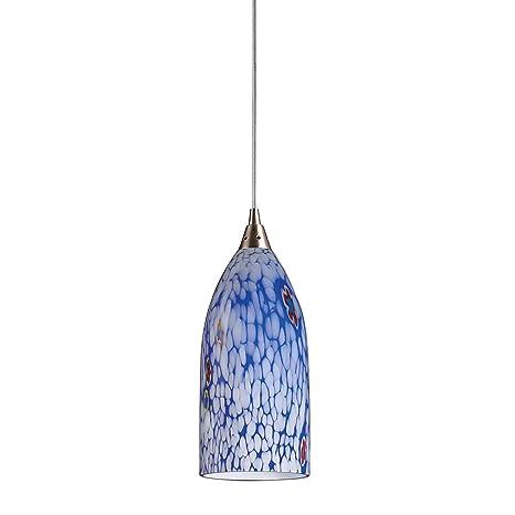 Amazon.com: Alces Verona 1 luz lámpara colgante en Níquel ...