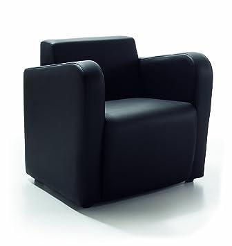Due-home Sillon butaca fija, color negro