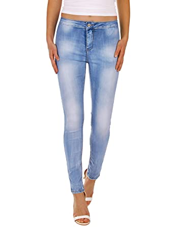 1285a5ed0402 Fraternel Damen Jeans Hose Super Stretch Normal Waist  Amazon.de  Bekleidung