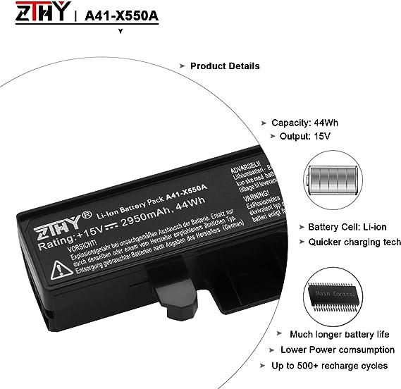 K KYUER 38WH 2600mAh A41-X550A Batería para ASUS X550 X550C X550CA ...