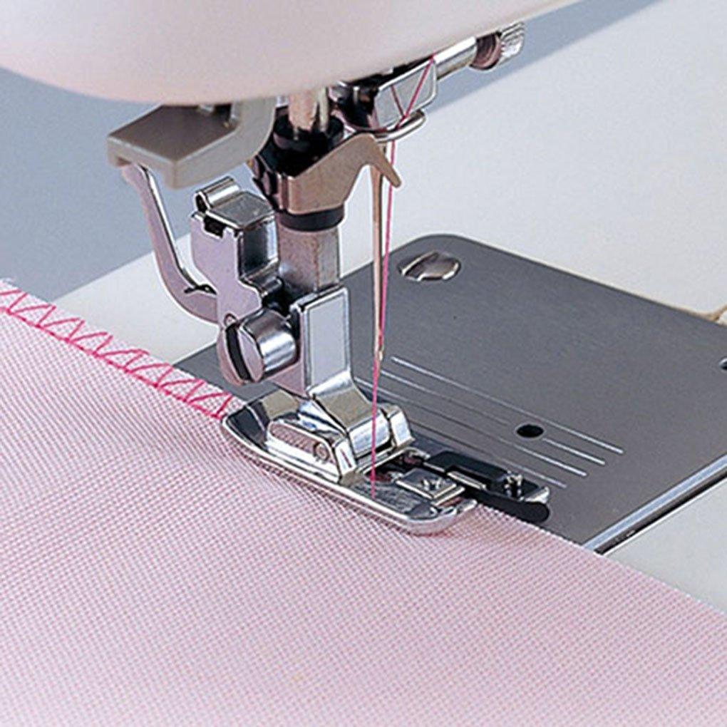 Gemini_mall® Overlock Overedge Overcasting Sewing Machine Presser Rolled Hem Foot Tool