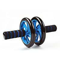 Strauss Double Wheel Ab Exerciser with Knee Pad, (Blue)