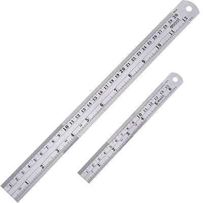 Stainless Steel Ruler and Metal Rule Kit