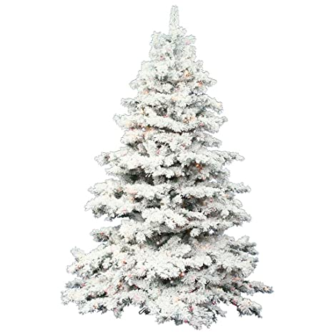 9 Artificial Christmas Tree.Amazon Com Vickerman Flocked Alaskan Pine 9 Foot Artificial