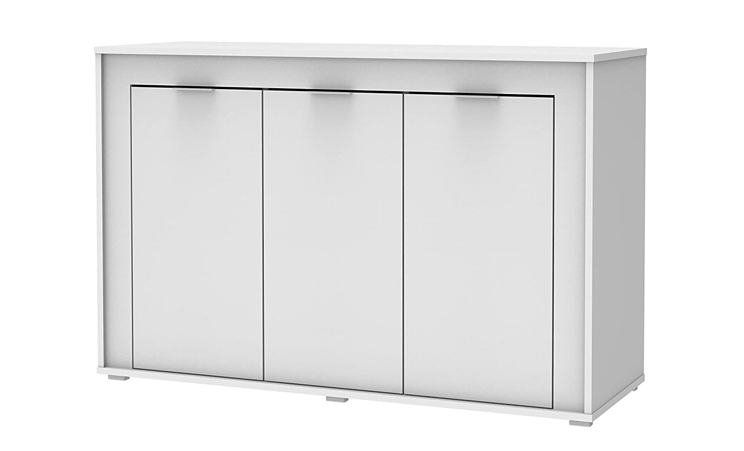 Madesa Sideboard Buffet Living Room Cabinet 6 Shelf 3 Cupboard Hallway Storage TV Stand (White) Riana