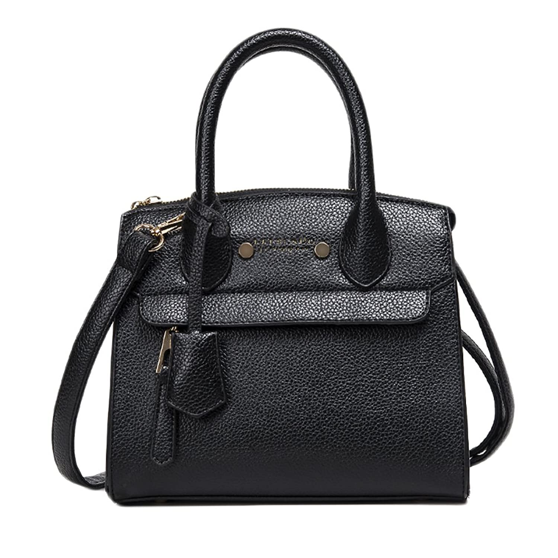 QZUnique Women's Elegant Lady Style Top Handle Cross Body Shoulder Bag Black