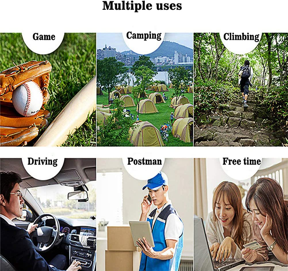 USB charging fan keep your hands free 360/° direction adjustable mini fan Portable fan cycling jogging traveling climbing and more Suitable for school office RANSENERS Neck fan outdoor