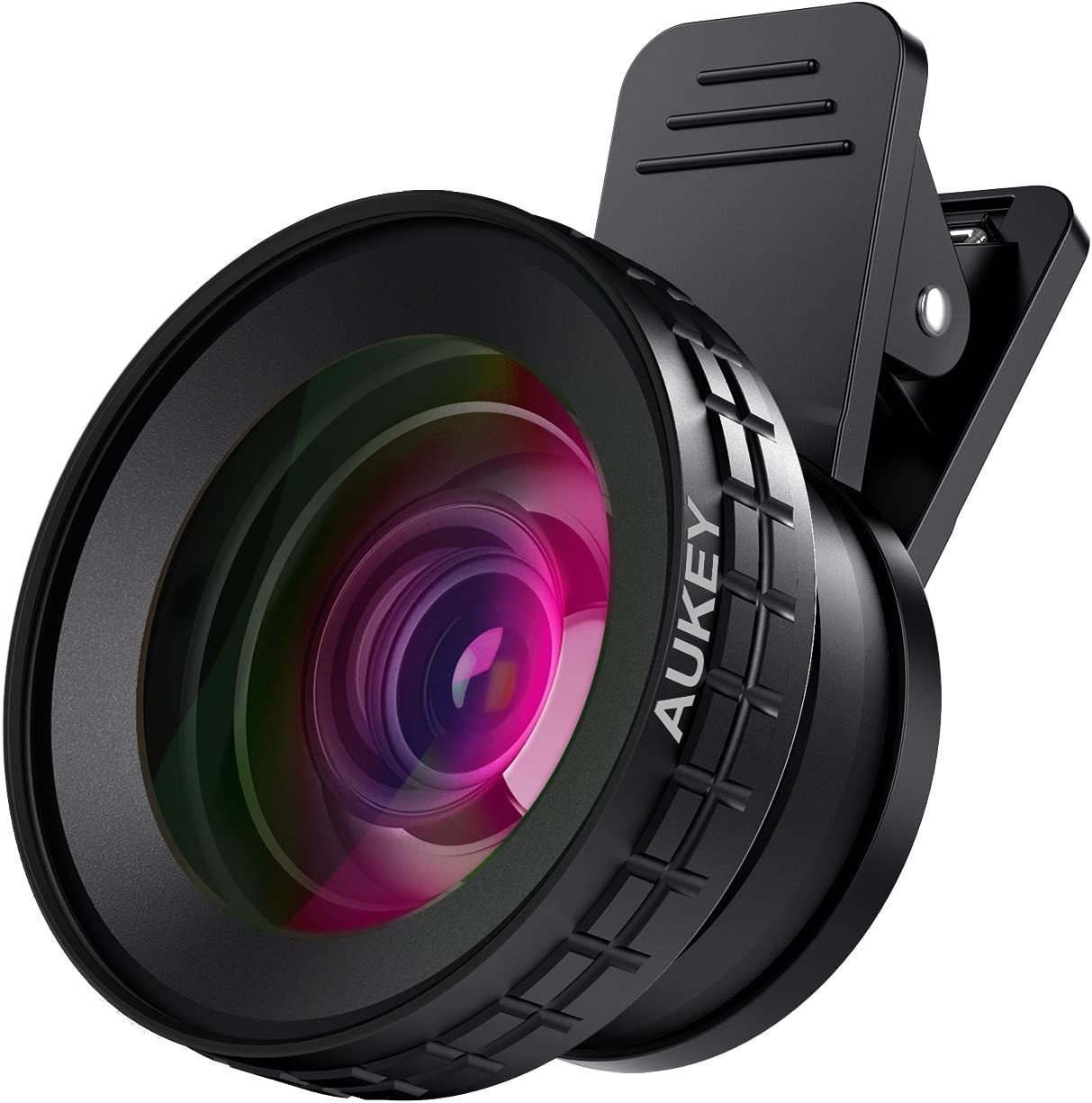 Aukey Ora 140° Wide Angle + 10x Macro Clip-on Cell Phone Camera Lens Kit for Android & iOs Smartphones