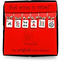 Wine Things Mah Jongg, Painted Wine Charms, Fits neatly around stem, Multicolor