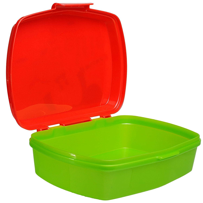 Disney Mickey Mouse Set /_ Lunchbox // Brotdose inkl f/ür M.. alles-meine.de GmbH 2 TLG Trinkflasche 1 Fach Kindertrinkflasche Brotb/üchse K/üche Essen Name BPA frei