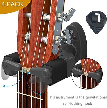 Soporte de pared para guitarra, diseño de bloqueo automático, se ...