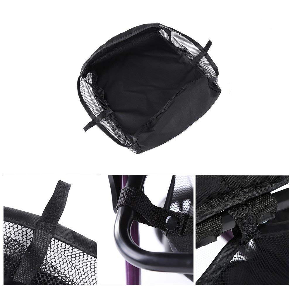 Takestop Bolsa Universal bolsa menos Cochecito a red negro carro Shopping Bag Organizador Almacenamiento Puerta Almacenamiento Organizador Desmontable