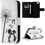 iPhone SE Case ,iPhone 5S Case ,iPhone 5 Flip Cover ,Lanveni 3D Colorful Painting Premium PU Leather Wallet Handset Shell Bookstyle Cellphone Skin Pouch & Magnetic Closure & Card Slots Protective Pocket For iPhone SE & iPhone 5S & iPhone 5 Handphone ,Love Under Dandelion
