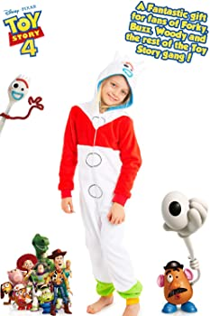 Super Soft Fleece Onesies for Boys Girls Gifts for Kids Toy Story Pyjamas Jumpsuit PJs Playsuit Costume Pajamas Disney Toy Story 4 Forky Onesie Glow in The Dark