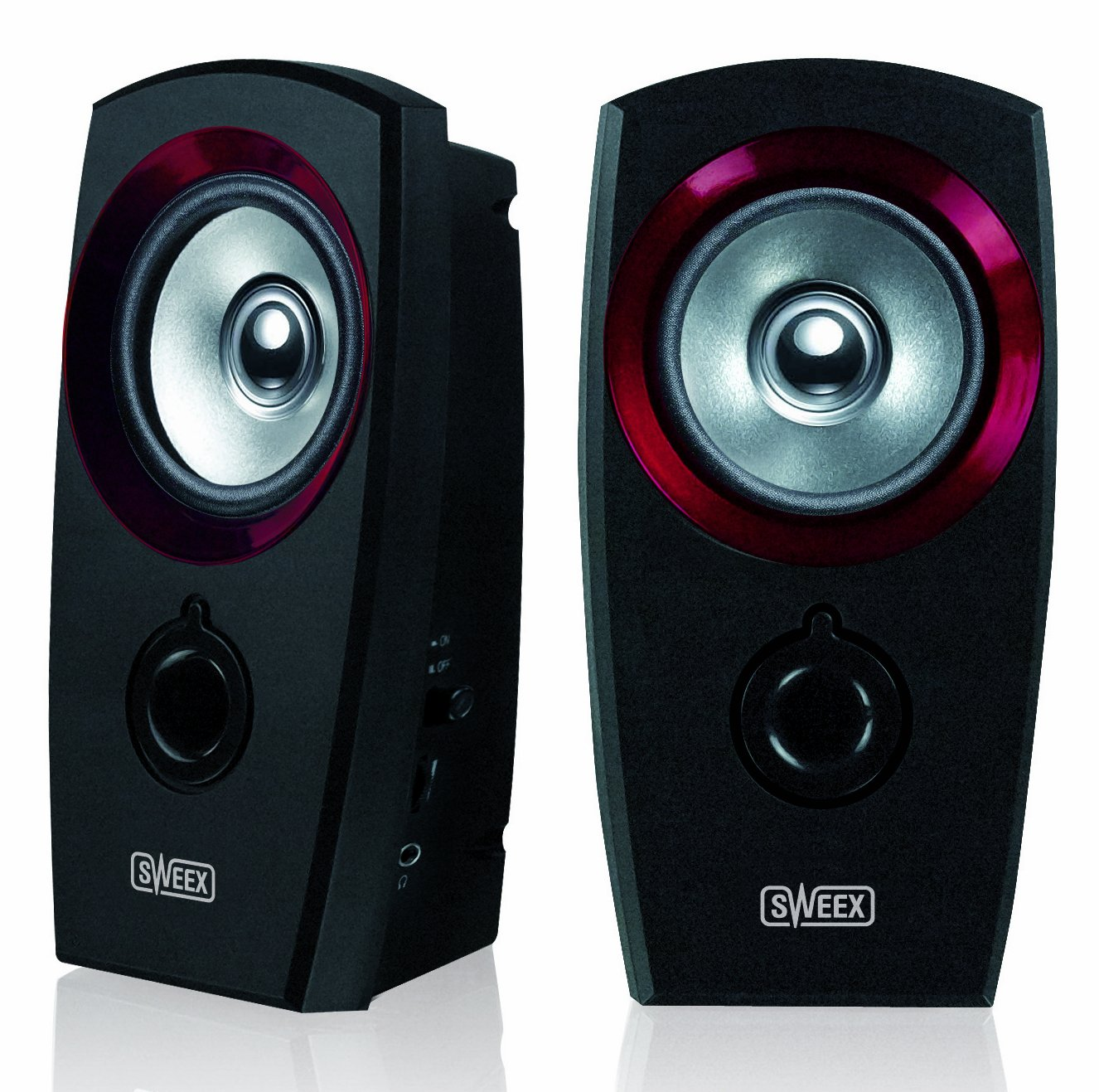 Sweex USB 2.0 Speaker Set - Black/Red