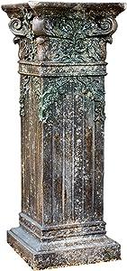 ALX-Dec Roman Pillar Greek Column Pedestal - Mottled Retro - Magnesium Oxide Outdoor Garden Decoration