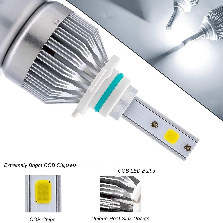 Xotic Tech H10 9140 9145 LED Headlight Bulbs 6000K Xenon White for High Low Beam DRL Fog Light 2 Pieces Xotic Tech Direct