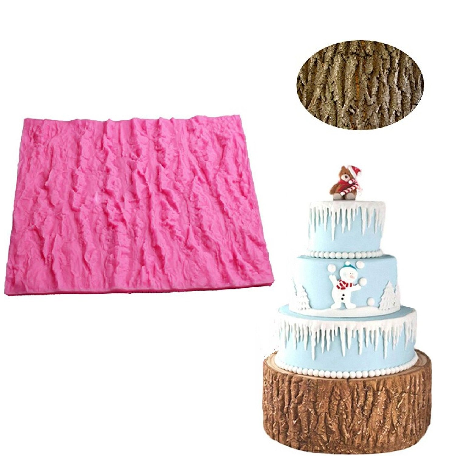 Amazon Fondant Impression Mat Tree Bark texture Design