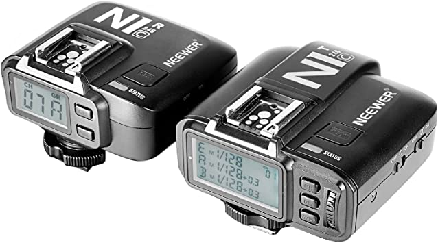 1Transmitter+1Receiver Neewer N1C E-TTL 2.4 G 32 Channels Wireless Flash Trigger for Canon 5D Mark II//III,70D 60D 550D DSLR Camera,Studio Flash and Flash Speedlite