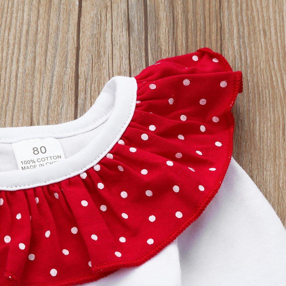 Ropa Navidad Niña Reno Camiseta Tops + Tutu Pantalones de Bola de Pelo a Rayas Disfraz Navidad Bebe Niña 1-6 años: Amazon.es: Ropa y accesorios