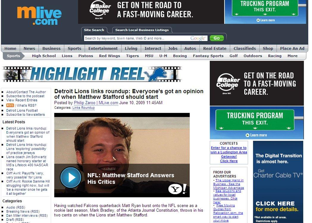 Amazon com: Highlight Reel (Detroit Lions): Philip Zaroo / MLive com