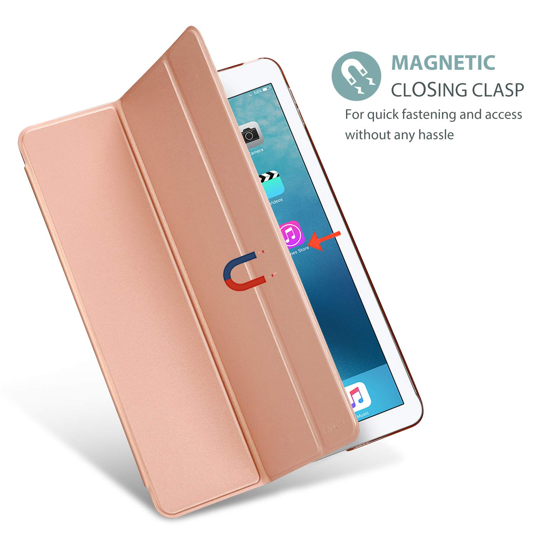 -Bleu Marine ProCase /Étui L/éger pour iPad Pro 9.7 2016 A1673 A1674 A1675 Coque Housse de Protection Transparent avec Support Fonction et Veille//R/éveil Automatique pour iPad Pro 9.7 Pouces