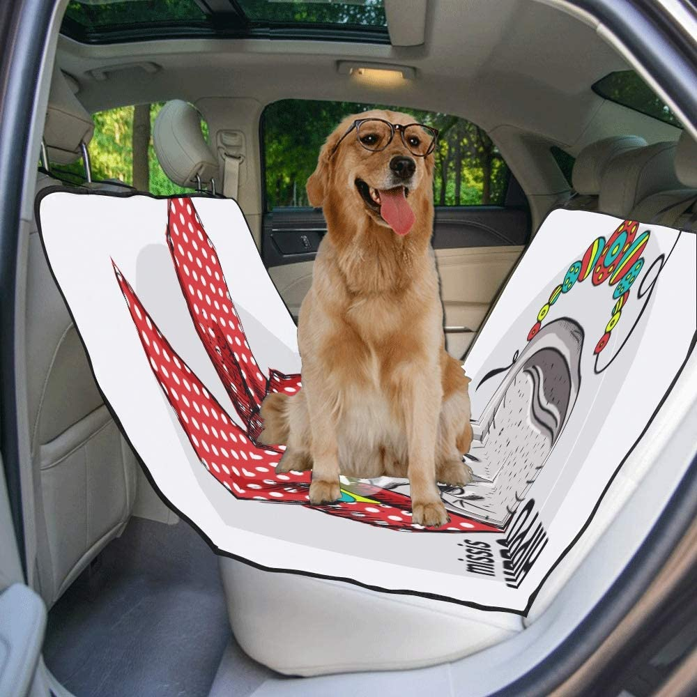 VNASKL Dog Seat Cover Custom Hippo Kerchief Necklace Glasses Hand Printing Car Seat Covers for Dogs 100/% Waterproof Nonslip Durable Soft Pet Car Seat Dog Car Hammock for Cars Trucks SUV