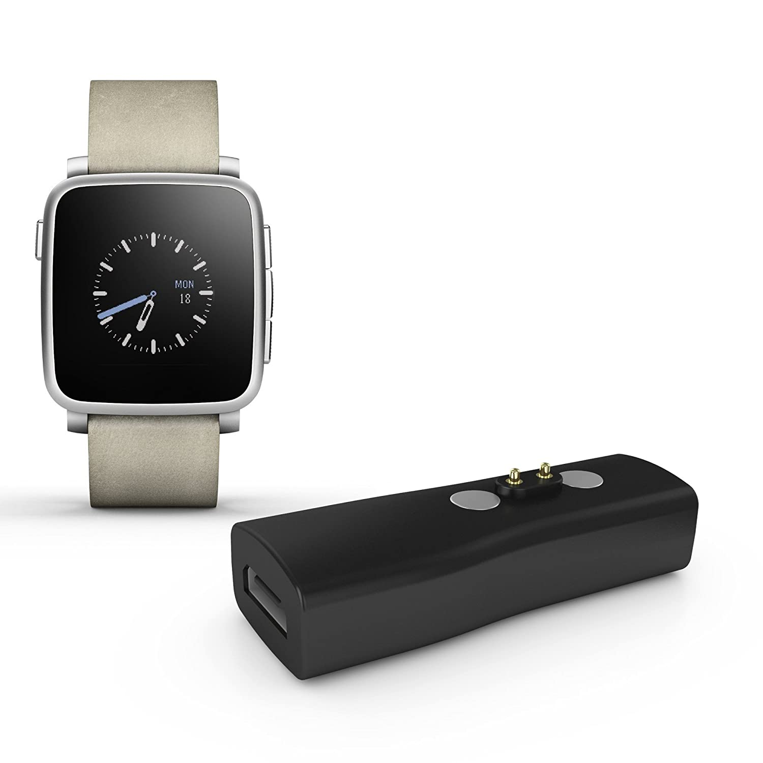 GOOQ® Charger Adapter without USB Cable for Pebble Time Round Smartwatch Apple/ Android …